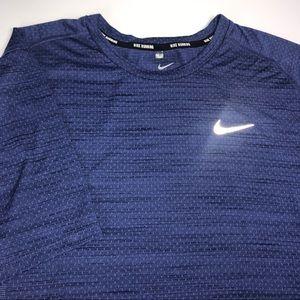 Nike Men's Running Dri Fit T-Shirt XL Blue